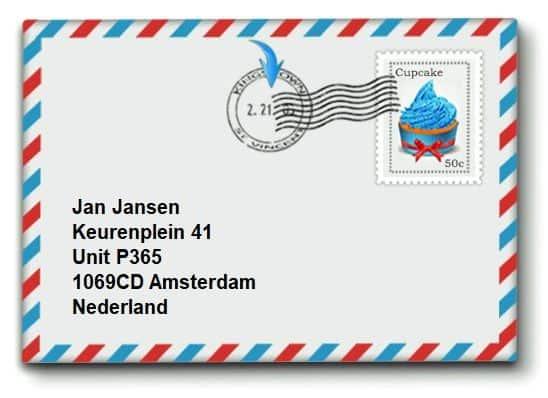 Voorbeeld adresvermelding